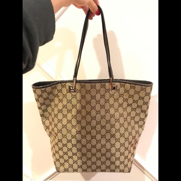 5a17402a4f1954 Gucci Bags | Authentic Handbag Tote Gg Design Vintage | Poshmark
